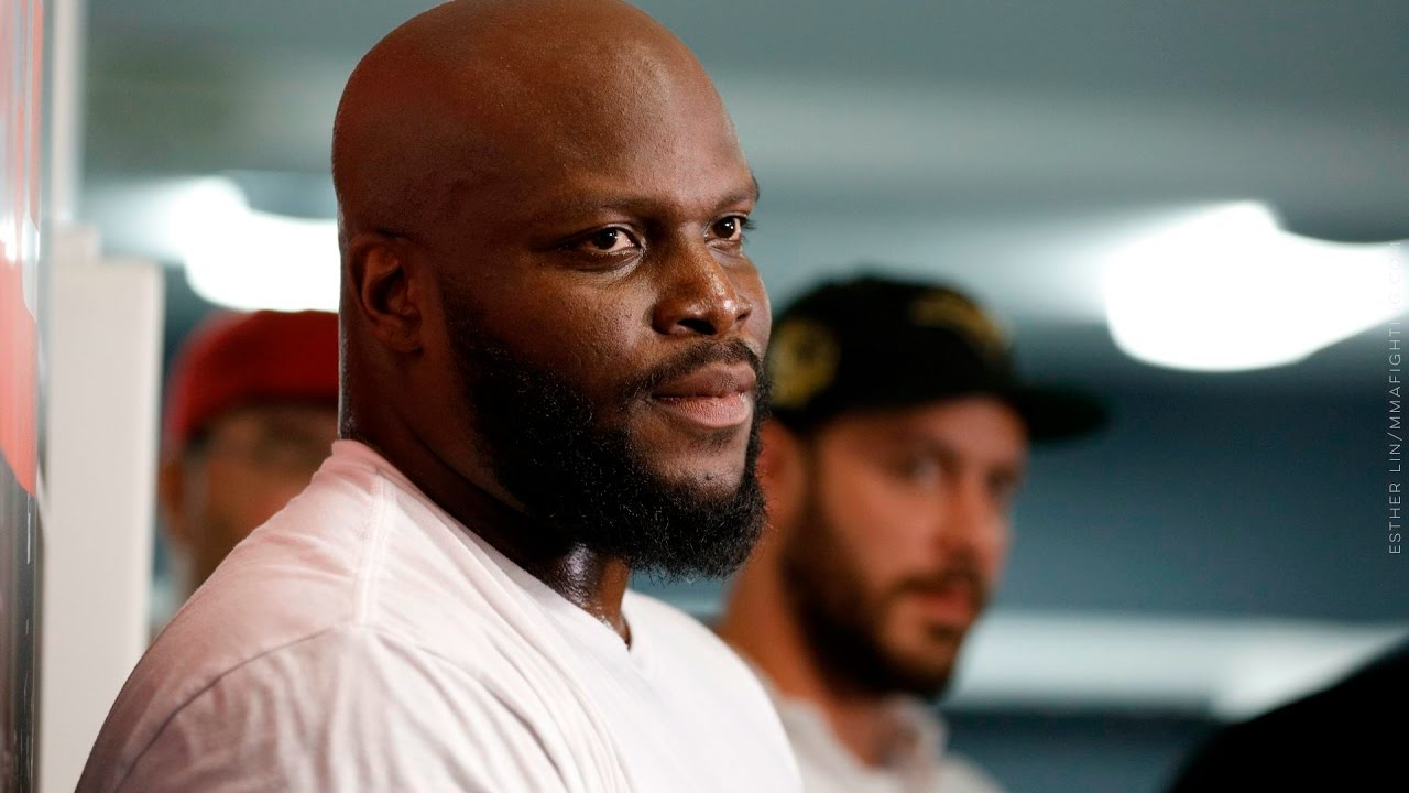 Derrick Lewis UFC 211 Media Workout Scrum- MMA Fighting