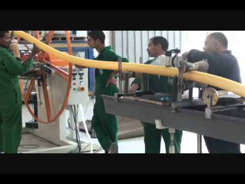 TS867-PVC spiral hose machine test in Egypt