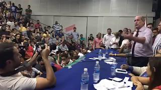 Ciro Gomes em palestra na Universidade Estadual do Rio de Janeiro, em 08/05/2017.