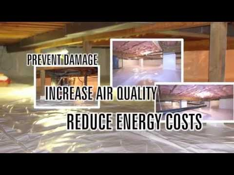 encapsulate - Step by step instructions on encapsulating your crawlspace. You can find most of the materials and products in the video at www.crawlspace.net The air qualit...