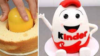Huge Kinder Surprise Cake with SURPRISE TOY Inside - EASTER Cake Idea for Kids