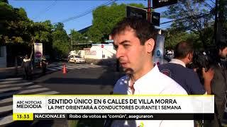 Sentido único en 6 calles de Villa Morra