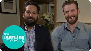 Chris Evans And Paul Rudd Talk Captain America: Civil War   This Morning