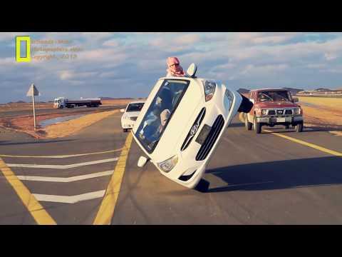 Däckbyte körandes på två hjul