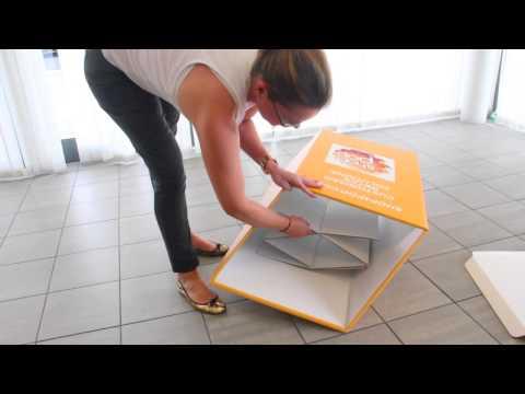 How to assemble a Square Dump Bin