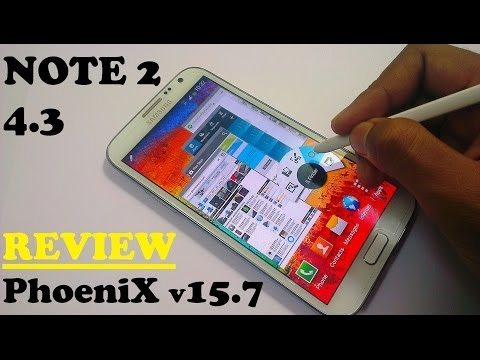 Galaxy Note 2 4.3 Air command, pen window etc Review(PhoeniX ROM V15.7)