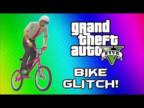 GTA 5 Flying Bike Glitch! – World Record, BMX Wins & Fails (GTA 5 Online Funny Moments Gameplay)