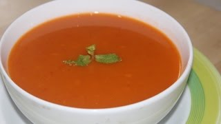 Tomato soup is one of the tastiest and refreshing soups, Its juicy and tangy to taste with a nice aroma of ripe tomatoes.