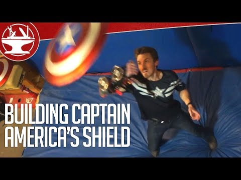 The Hacksmith Builds a Working Captain America Shield That Is Throwable and