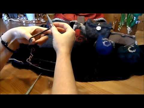 Mittelaltertasche ,Tasche,Gürteltasche stricken und FILZEN/ verfilzen