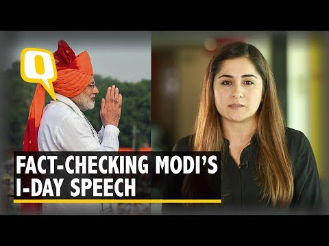 Modi's I-day Address: A Fact-check And What He Missed Out | The Quint