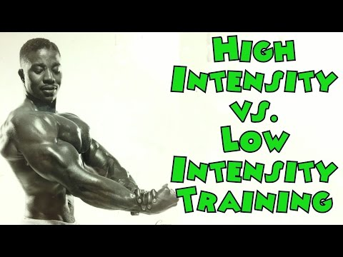 High Intensity vs. Low Intensity Training – Bodybuilding Tips To Get Big
