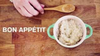 Baby Food | Vanilla Roasted Pear Oatmeal