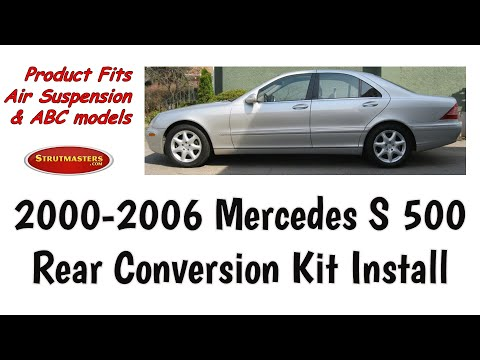2000-2006 Mercedes S 500 Rear Air Suspension Conversion Installation