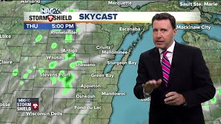 Today, we may see a stray shower or sprinkle pop up in the afternoon, but most of the day will be okay. Right now, it looks like the best chance of seeing any of that would be just away from Lake Michigan. It'll be pretty much normal for this time of year with highs around 80 with cooler temps along the Lake.  Tonight, any of those showers would die out with the loss of daytime heating, then we'll clear out the skies. Expect lows to be comfortable in the upper-50s.
