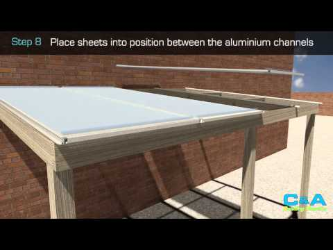How to install polycarbonate roofing sheets