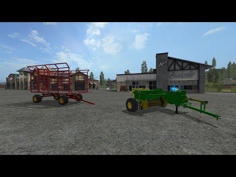 John Deere Baler and Thrower Wagon v1.0