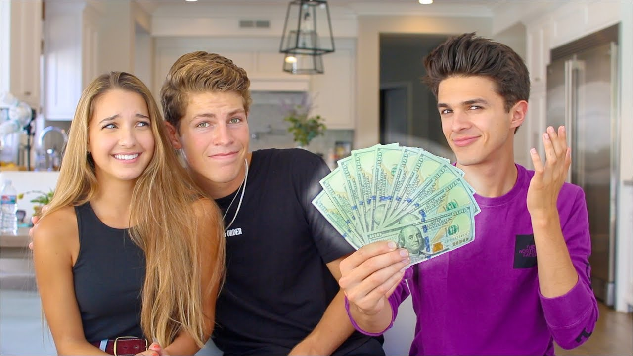 """Paying Sister and her """"Boyfriend"""" to Tell their DEEP Secrets!   Brent Rivera - YouTube"""