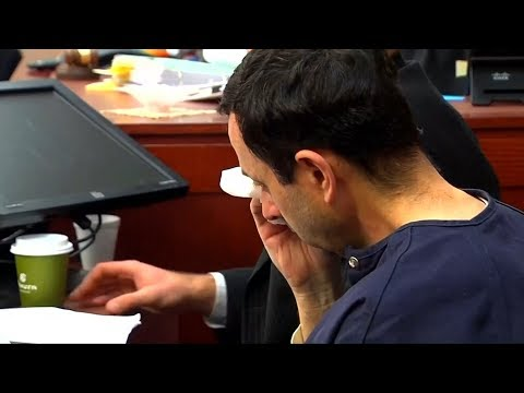 Dr. Larry Nassar cries in court as sexual assault victim says she forgives him