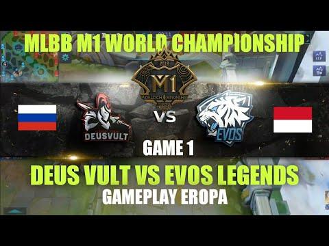 EVOS Legends (Indonesia) vs DEUS VULT (Rusia) • Game 1   Grup D M1