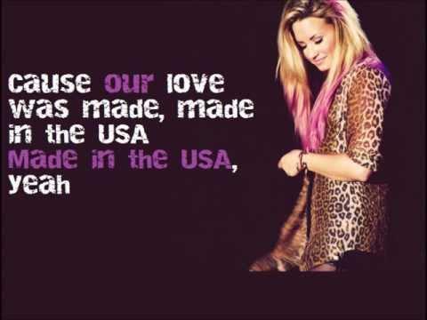 Demi Lovato - MADE IN THE USA lyrics