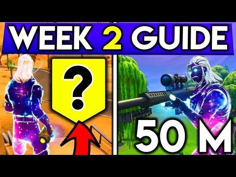 Fortnite Week 2 Challenges Guide Easiest 50m Elim Secret Banner