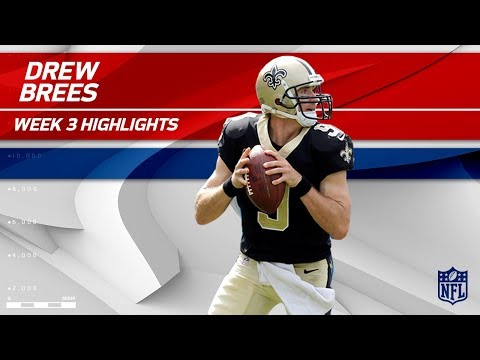 Video: Drew Brees' 3 TD Game vs. Carolina | Saints vs. Panthers | Wk 3 Player Highlights