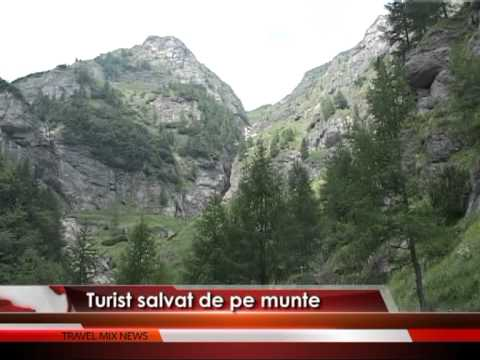 Turist salvat de pe munte – VIDEO