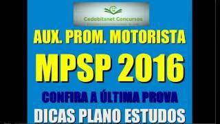 #2 MPSP MOTORISTA CONCURSO PÚBLICO PROVAS QUESTÕES SIMULADO CURSO APOSTILA AUXILIAR PROMOTORIA SP