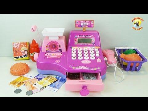 Кассовый аппарат - детский игровой набор для девочек / Саsh rеgisтеr - Сhildrеn's sет fоr girls - DomaVideo.Ru