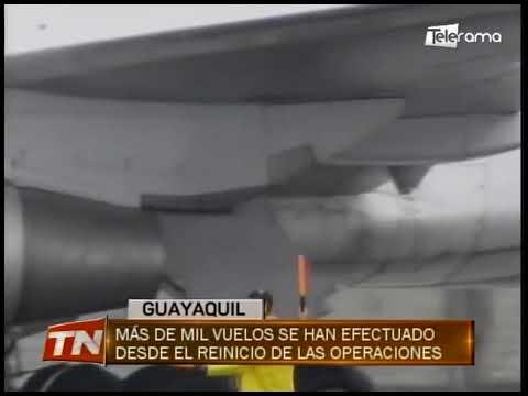 Más de mil vuelos se han efectuado desde el reinicio de las operaciones