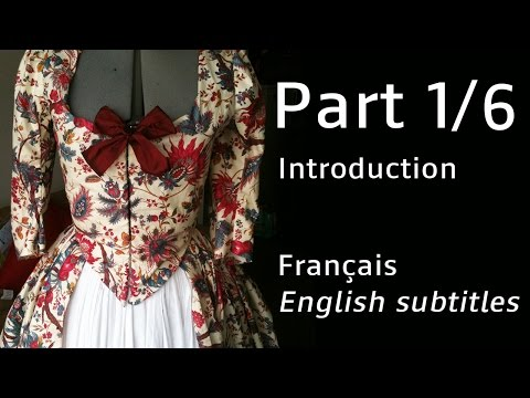 Robe à l'anglaise - (FR with english subs) PART 1 - Le maétriel / Supplies