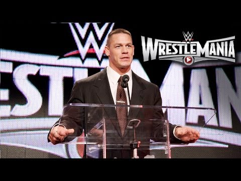 Conference - The Champ, John Cena, predicts overwhelming success and memories at WrestleMania 31 in Santa Clara, California, at Levi's Stadium 2015. http://www.wwe.com/sh...