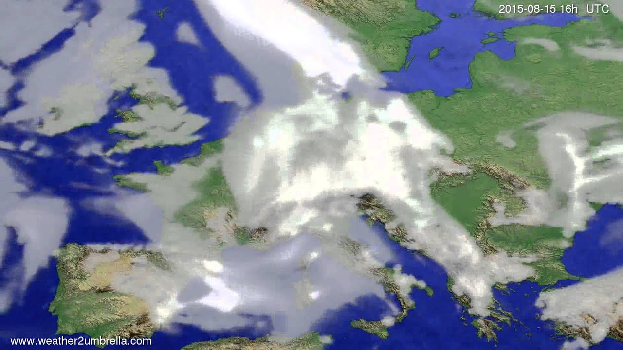Cloud forecast Europe 2015-08-12
