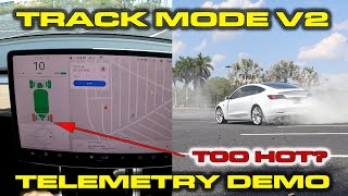 TRACK MODE V2 REVIEW & 0-60 TESTING * Tesla Model 3 Performance Telemetry Demonstration & How-To by DragTimes