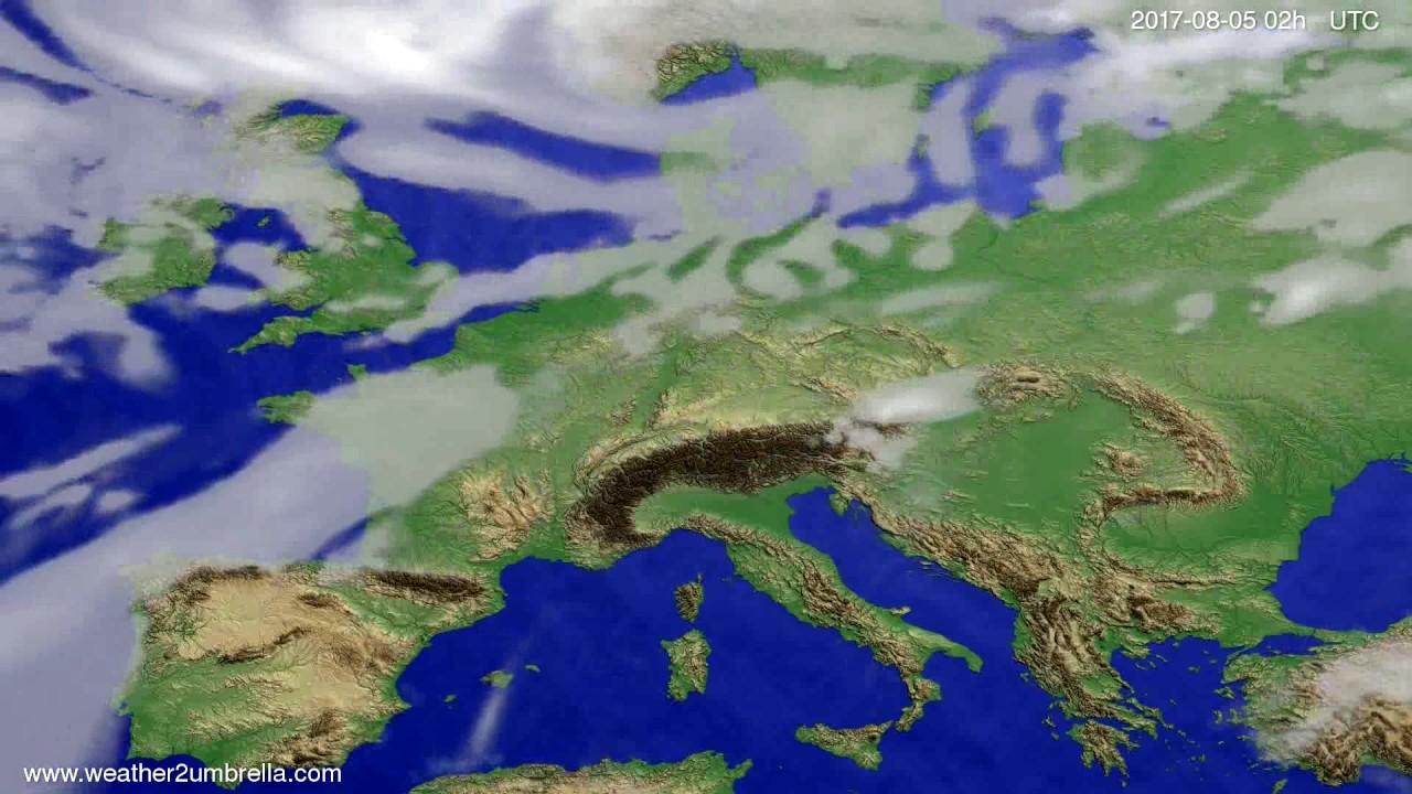Cloud forecast Europe 2017-08-01