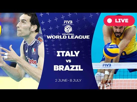 Italy v Brazil - Group 1: 2017 FIVB Volleyball World League