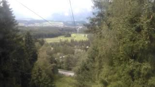 Igls Austria  City pictures : Down with the ropeway from Patscherkofel - Igls - Innsbruck - Austria
