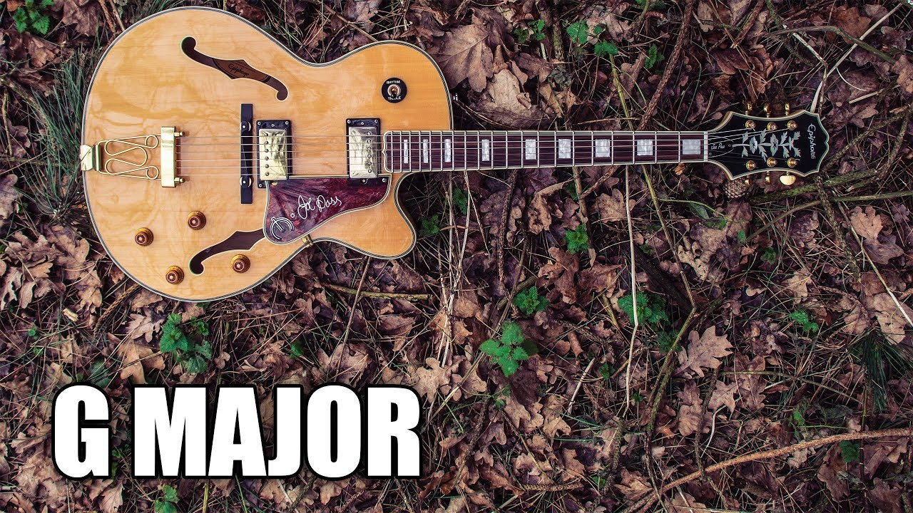 G Major Backing Track Acoustic Guitar | Winter Leaves