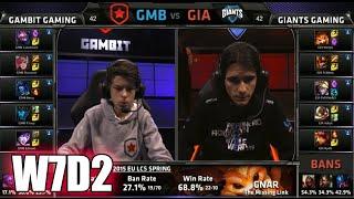 Gambit Gaming Vs GIANTS | S5 EU LCS Spring 2015 Week 7 Day 2 | GMB Vs GIA W7D2G5 VOD 60FPS
