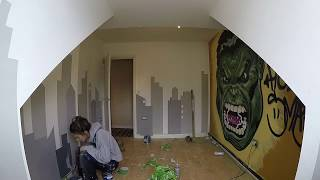 Nonton Hulk Smash Bedroom Mural - Marvel Themed Wall Art Timelapse Film Subtitle Indonesia Streaming Movie Download