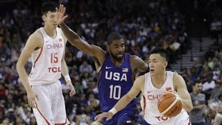 Kevin Durant, Carmelo Anthony, Kyrie Irving and the United States  play China in this preparation game for the 2016 Rio Olympics. Played in Oakland's Oracle Arena on July 26 2016. Full match in English.👍 and subscribe for more international basketball videos ► http://bit.ly/SubWorldBasketballBox score ►http://www.usab.com/news-events/live-stats/2016/07/box-score-2016-mnt-showcase-game-usa-vs-china2.aspx