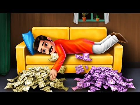 मेरा सोफा..! - LUCKY SOFA Comedy Video | Hindi Funny Videos | Hindi Moral Stories | Fairy Tales