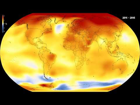 Global temperature anomalies from 1880 to 2017