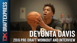 Deyonta Davis 2016 NBA Pre-Draft Workout Video and Interview (extended version) by DraftExpress