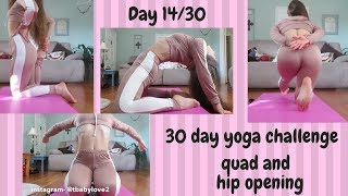 DAY 14 OF THE 30 DAY YOGA/STRETCHING CHALLENGE! QUAD AND HIP STRETCHES