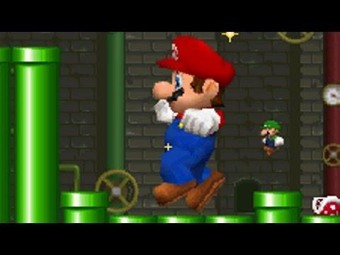 New Super Mario Bros DS - Mario vs Luigi Mode (All Stages) (видео)