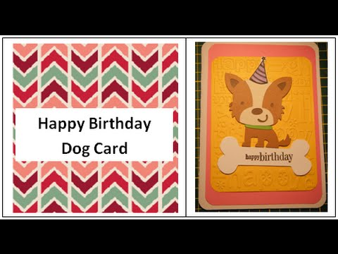 Dog With Birthday Hat Card