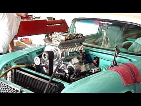 '55 Chevy puts out 1100hp with Whipple supercharger