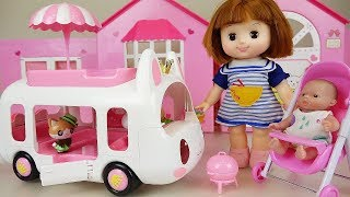 Video Picnic BUS and baby doll ice cream truck car toys play MP3, 3GP, MP4, WEBM, AVI, FLV Mei 2017